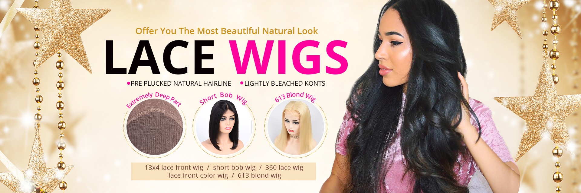 f4cf9f9ed Full Lace Wigs,Lace Front Wigs,Blonde Ombre Wig,4*4 Lace Wig,360 Lace  Frontal Wigs -Alipearl Hair