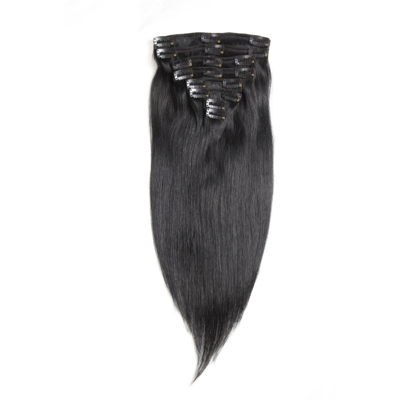 Clip In Human Hair Extensions Dark Color Best Clip In Extensions