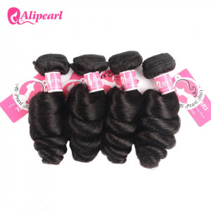 Loose Wave 4 Bundles Ali Pearl Unprocessed Brazilian Hair