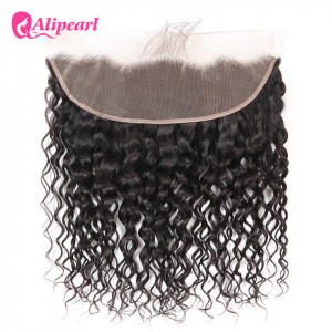 Ali Pearl 13*4 Lace Frontal Hair Brazilian Virgin Hair Natural Wave