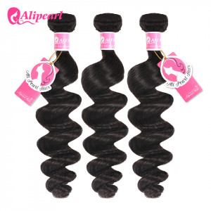 1b Color Ali Pearl Peruvian Hair Loose Wave 3 Bundles