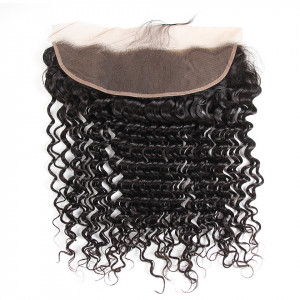 100% Brazilian Virgin Hair 13*4 Deep Wave Lace Frontal