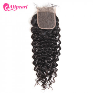 Alipearl Natural Wave 4*4 Lace Closure 1pc Peruvian Human Hair