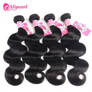 4 pcs/packet Ali Pearl Body Wave Peruvian Virgin Human Hair