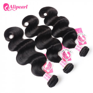 Hot Selling Body Wave Hair Ali Pearl 3 Bundles Peruvian Hair