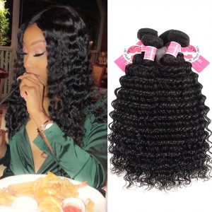 Alipearl 4 Bundle/Lot Deep Wave Brazilian Virgin Hair