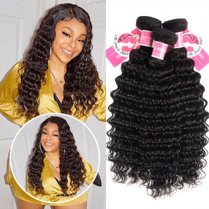 Ali Pearl Malaysian Virgin Hair Deep Wave 3 bundles