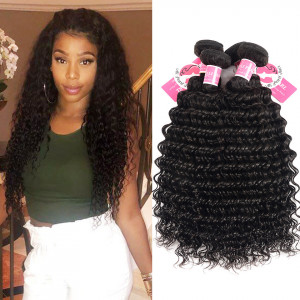 Unprocessed Peruvian Hair Deep Wave 4 Bundles Alipearl