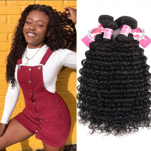 Ali Pearl Malaysian Virgin Hair Deep Wave 4 bundles