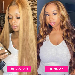 highlight lace part wig
