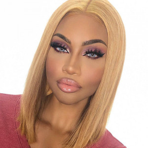 Short Human Hair Lace Front Wigs