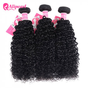 Alipearl Kinky Curly 3 pcs/packet Natural Color Peruvian Kinky Curly