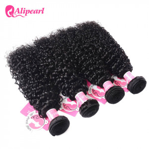 Alipearl Indian Virgin Hair Curly 4 Bundles