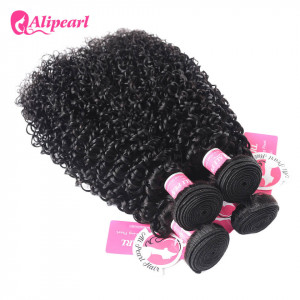 Alipearl Kinky Curly Brazilian Virgin Hair 4 Bundles/Packet