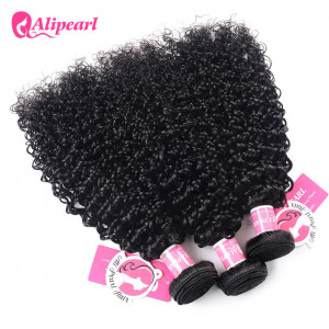 Ali Pearl Malaysian Kinky Curly 3 bundles Virgin Hair