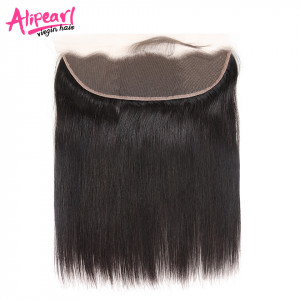 Ali Pearl Brazilian Straight Virgin Hair 13*4 Lace Frontal