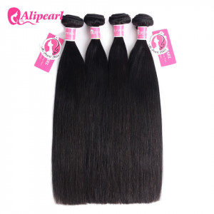Alipearl Malaysian Virgin Hair Straight 4 Bundles