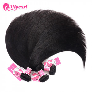 Alipearl Straight 3 Bundles Malaysian Unprocessed 100% Human Hair