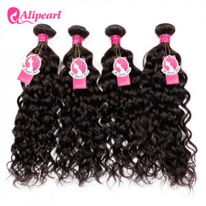 Alipearl 4 Bundles/Lot Natural Wave Brazilian Virgin Hair