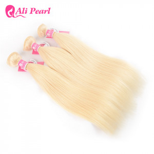 Ali Pearl 100% Virgin Hair Pure 613 Blonde Straight Human Hair 3 Bundles