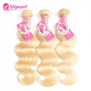 Alipearl Hair Color 613 Body Wave 3 Bundles Of Hair Blonde Weave Bundles