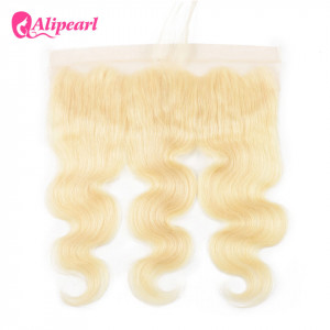 Brazilian Virgin Hair Pure 613 Blonde Color Body Wave 13x4 Lace Frontal