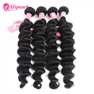 Ali Pearl Unprocessed Peruvian Hair Loose Deep Wave Hair 4 Bundles/Lot