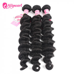 Ali Pearl Peruvian Loose Deep Wave Natural Color 3 Bundles Deals