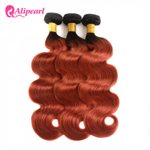 Alipearl Hair Brazilian Virgin Hair 1B/350 Body Wave 3 Bundles Human Hair