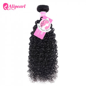 Alipearl Unprocessed Peruvian Hair Curly 1 Bundles/Lot