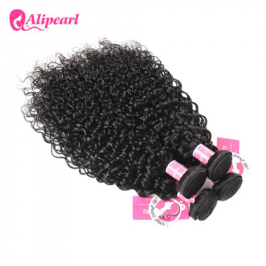 Alipearl Indian Natural Wave Hair Bundles 4 pcs