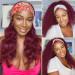 burgundy half wig