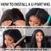 u part wig install