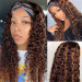 water wave headband wigs with highlights