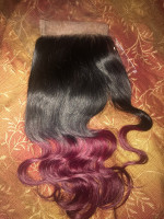 I also order one closure, the hair is...