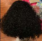 The hair is soft, very curly and BIG!...