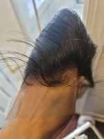 Hair is beautiful on the frontal silk...