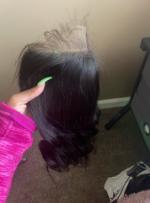 Really good hair , full thick closure...