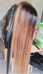after several bleaching and colour ap...