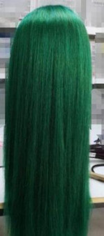 i dyed it to green color, it is amazi...