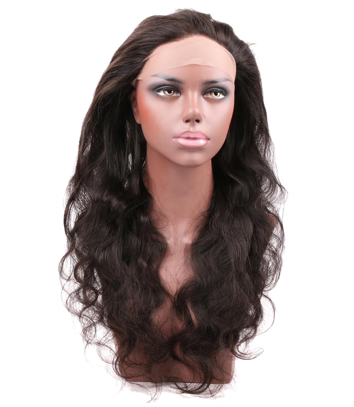 100 Virgin Remy Brazilian Body Wave Virgin Hair 1pc 360 Lace