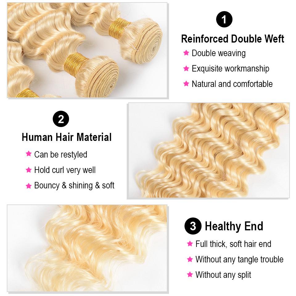 Deep Wave Blonde Weave Hair