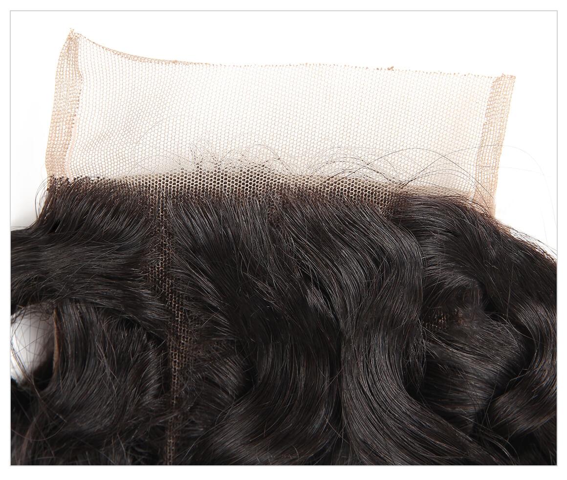 Natural Wave 4 4 Lace Closure 1pc Peruvian Human Hair