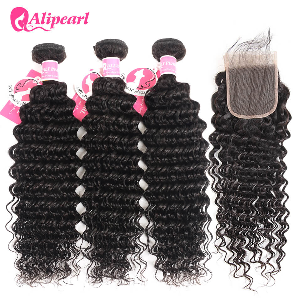 Deep Wave Weave Human Hair 3 Bundles