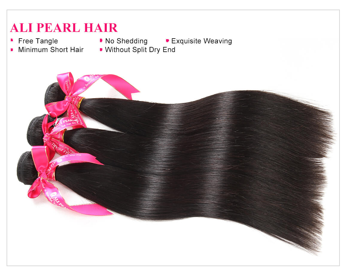 Human Hair Closure 3 Bundles