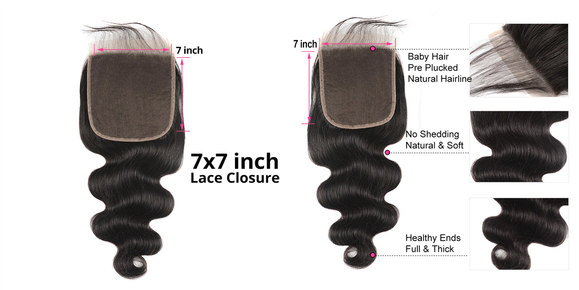 straight lace closure