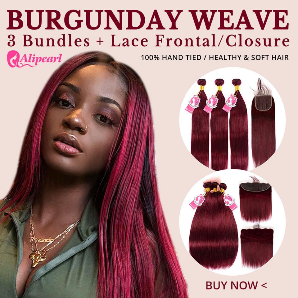 burgundy hair