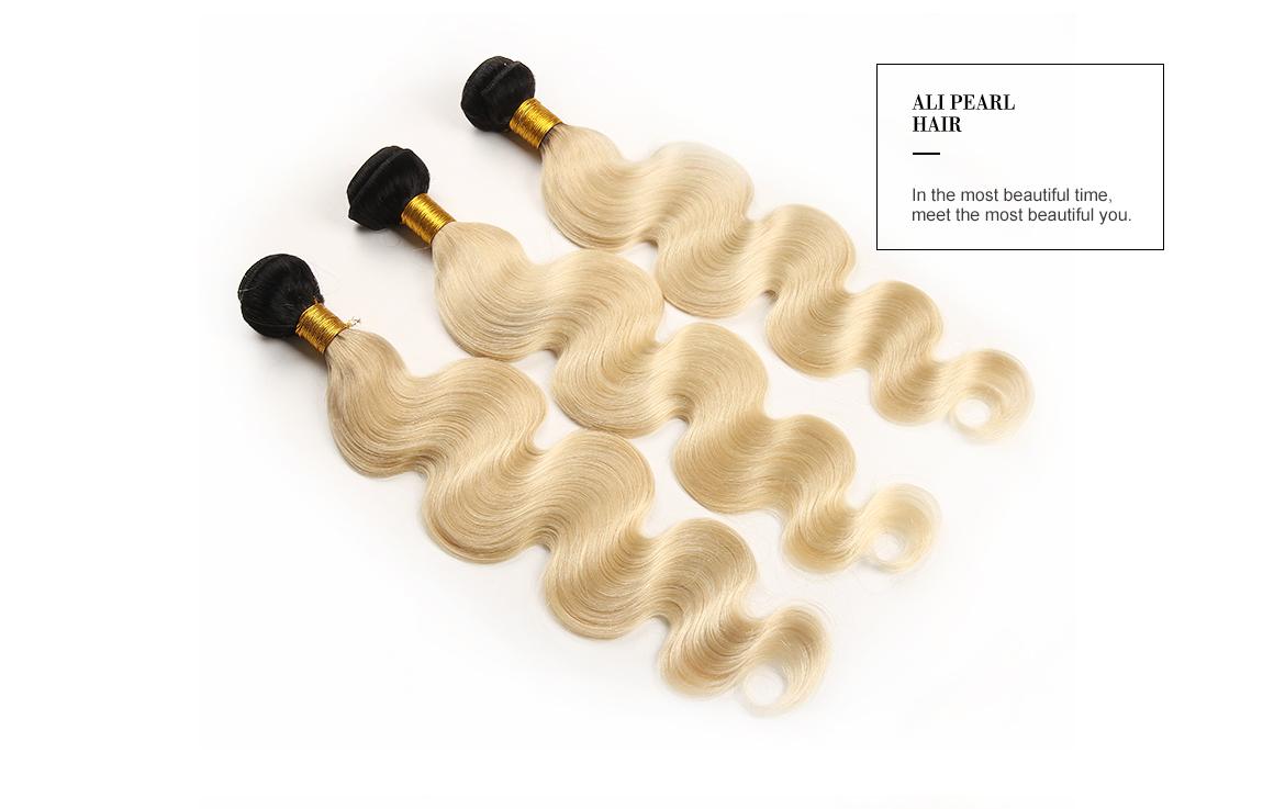 613 Blonde Hair Bundles 3PCS