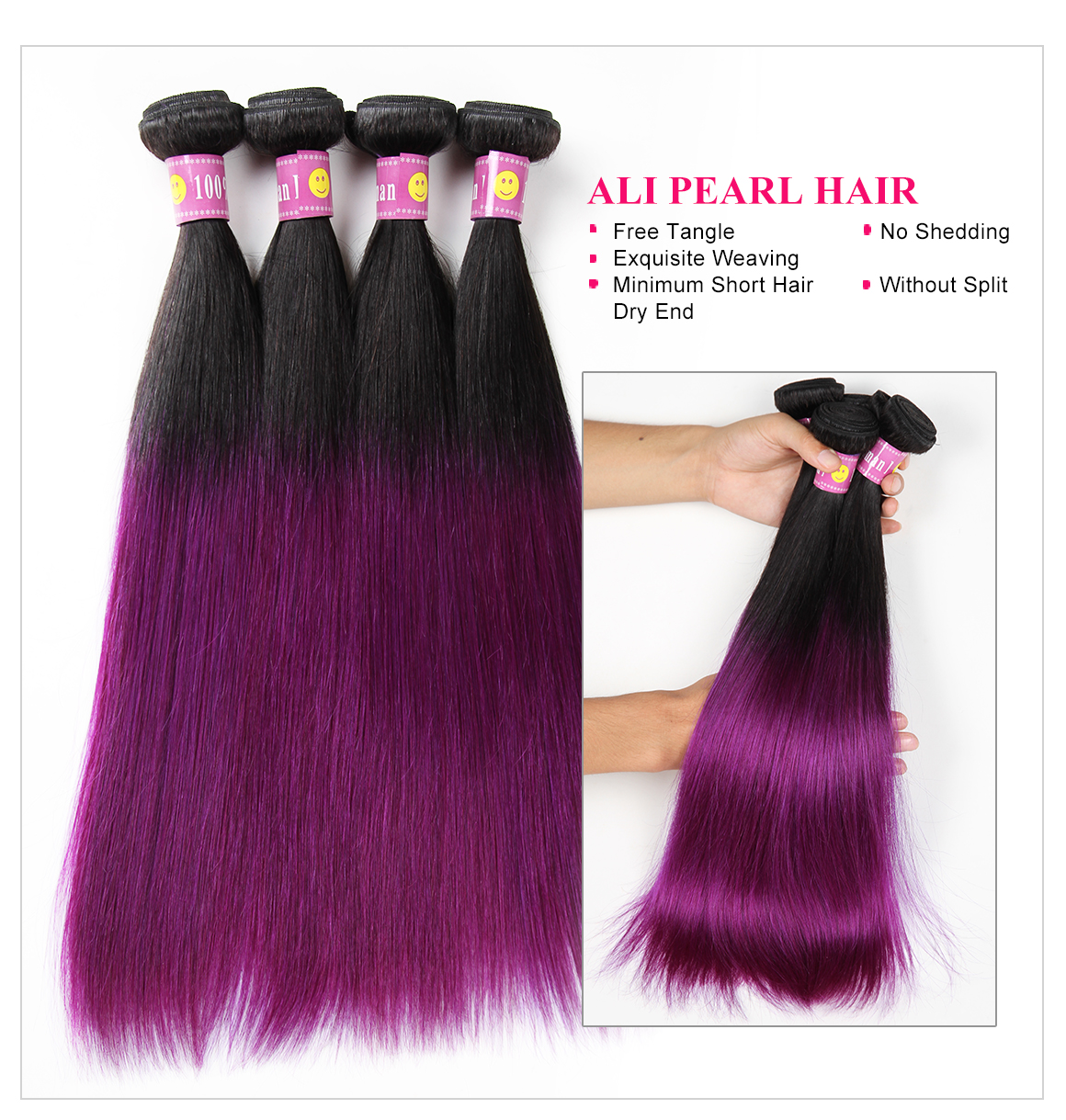 Ombre Hair 1b/Purple Color